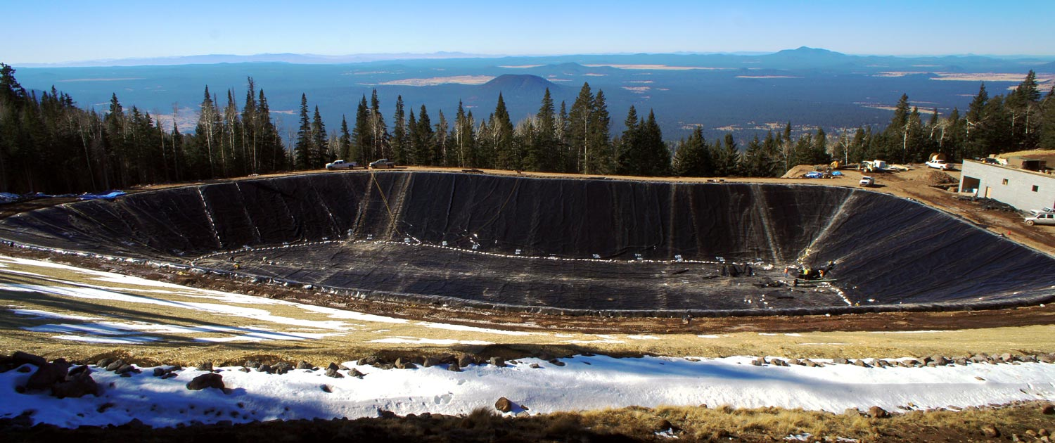 arizona snowbowl water reservoir for snowmaking outside of flagstaff