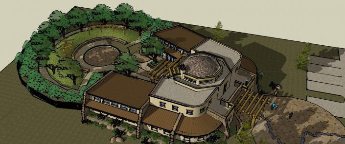 rendering of the hualapai cultural center