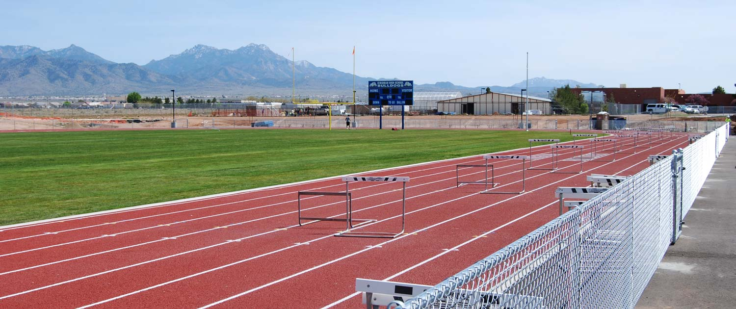 running field track at the kingman high school