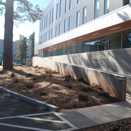 ada entrance outside of the northern arizona real estate holdings NAREH building in flagstaff