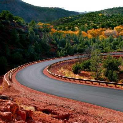 road in cross creek ranch in sedona