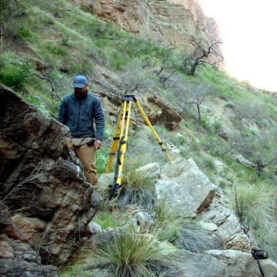 surveying in the grand canyon