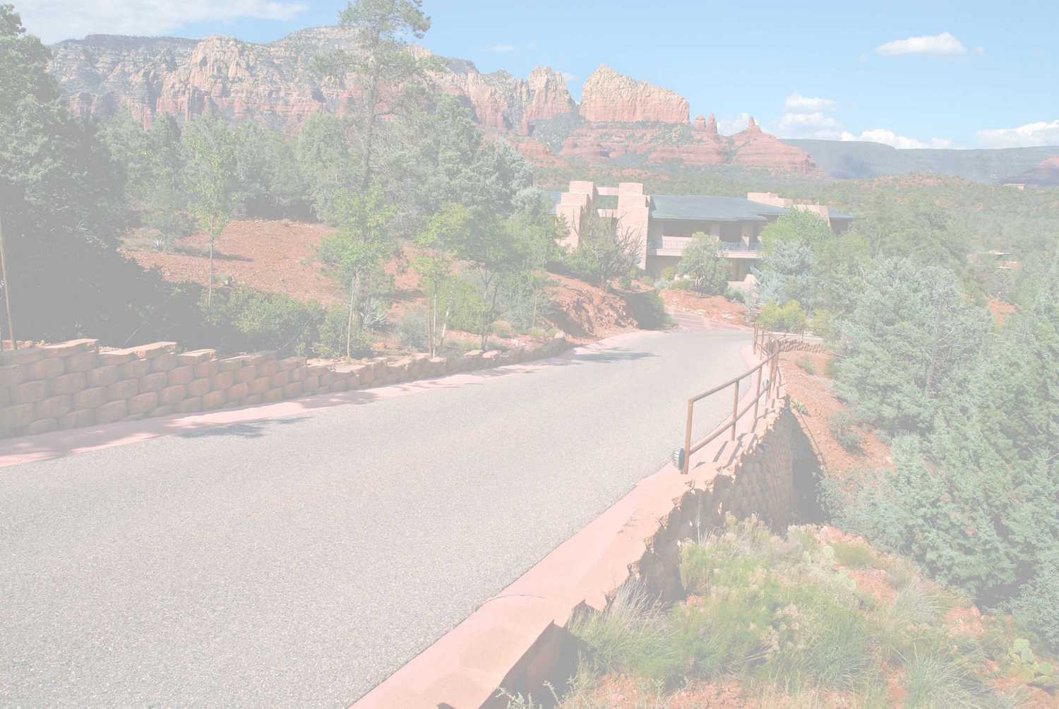 private driveway outside of luxury home in sedona